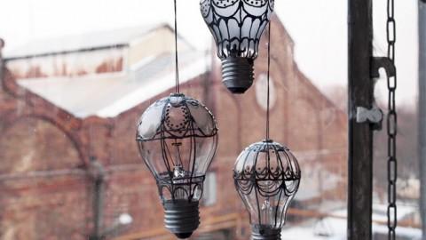 1001 ideas DIY para decorar tus bombillas fundidas