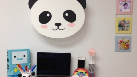 Caja pared Kawaii DIY Oso Panda
