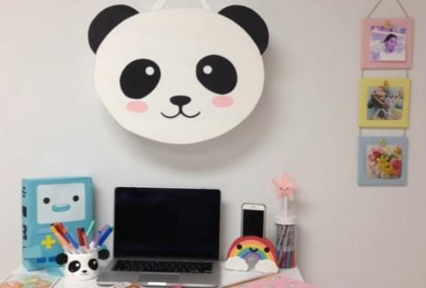 Caja pared Kawaii DIY Oso Panda