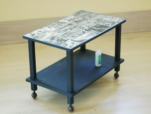 empezamos este especial de decoracin con una idea para renovar cualquier mesa baja con ta tcnica udecoupageu muy de moda