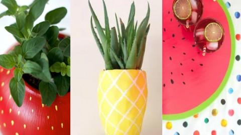 Llena de frutas tu jardín con estas 5 coloridas macetas DIY + Regalo frutal