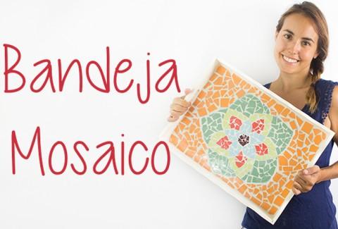 Bandeja mosaico de azulejos DIY