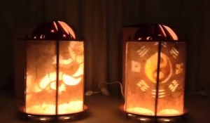 lámparas giratorias sin motor DIY