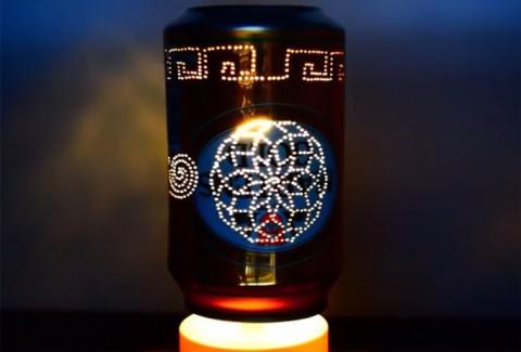 Alucina con estas 3 impresionantes lámparas giratorias sin motor DIY