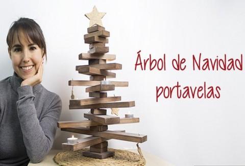 Árbol de Navidad portavelas DIY – Hazlo tú mismo
