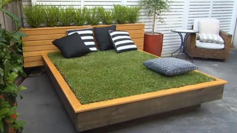 ¿Una cama en el jardín? Crea tu propia cama césped DIY y reinventa tu jardín