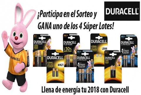 Sorteo Llena de energía tu 2018 con Duracell