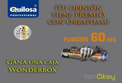 Sorteo Tu opinión tiene premio con Orbafoam de Quilosa