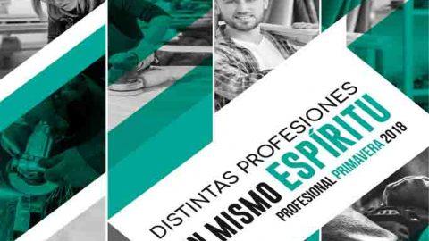 Catálogo Profesional Primavera 2018 'Distintas profesiones, un mismo espíritu'