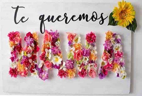 Mural de flores día de la madre DIY-Hazlo tú mismo