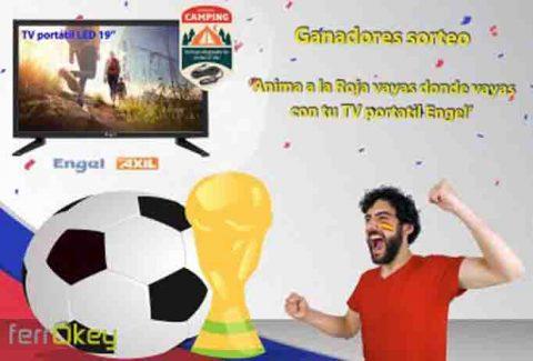 Ganadores Sorteo 'Anima a la selección española de fútbol vayas dónde vaya con tu TV portátil Engel'