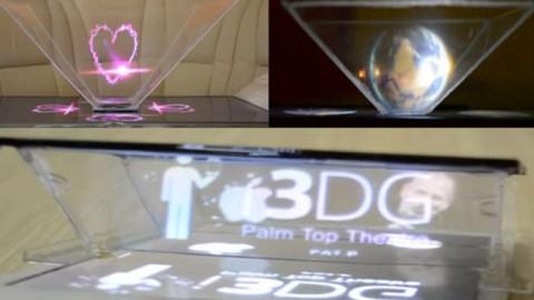 Holograma DIY para TV, smartphone y tablet