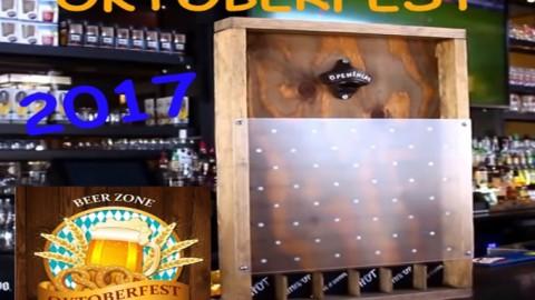 Oktoberfest 2017: Juego Plinko con chapas de cerveza DIY