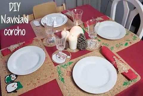 Decora con corcho tu mesa esta Navidad DIY-Hazlo tú mismo