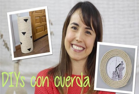 Decora tu casa con cuerdas: reloj y paragüero DIY-Hazlo tú mismo