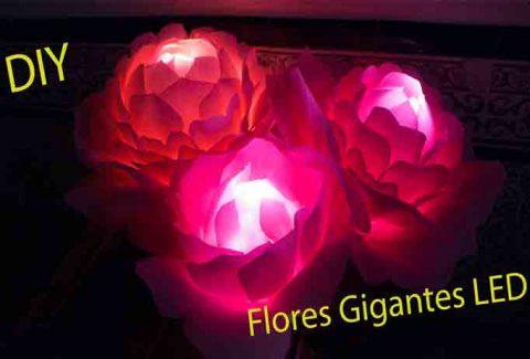 Lámpara flores gigantes LED DIY – Hazlo tú mismo