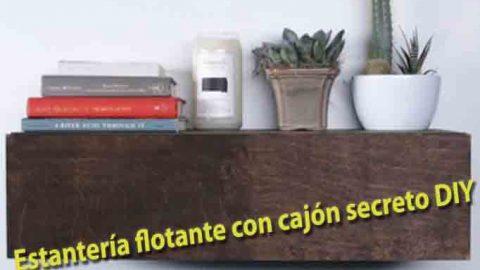 Estantería flotante con cajón secreto DIY-Hazlo tú mismo