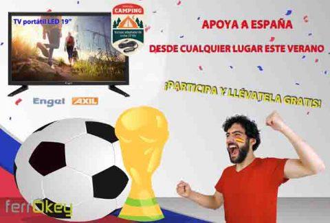 Sorteo 'Anima a la selección española de fútbol vayas dónde vaya con tu TV portátil Engel'