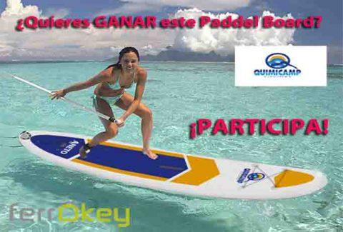 Sorteo disfruta del mar este verano con la tabla de Paddel surf de Quimicamp