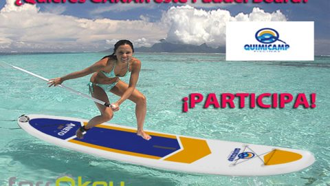 Sorteo Pon un extra de diversión a tu verano con la tabla de Paddel surf de Quimicamp
