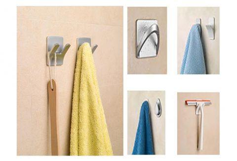 ¿Quieres tener el baño bien organizado? ¡Ahórrate hacer agujeros para poder colgar tus prendas y accesorios!