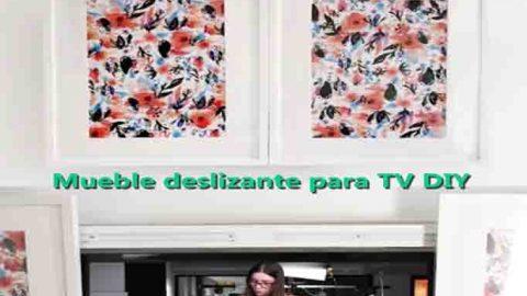 Mueble deslizante para TV DIY-Hazlo tú mismo