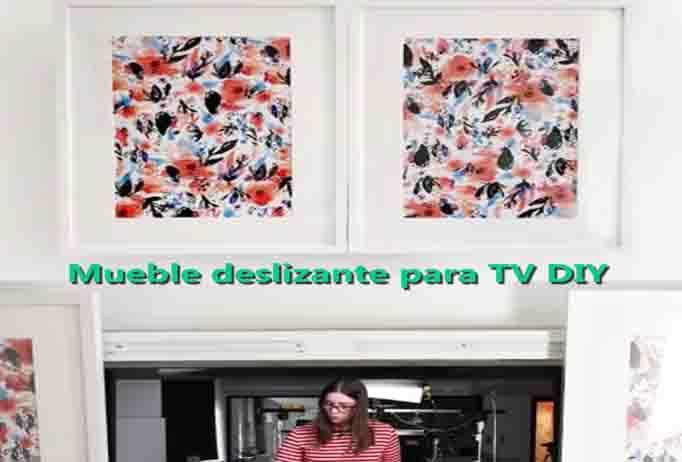 Mueble deslizante para TV DIY Hazlo tu mismo