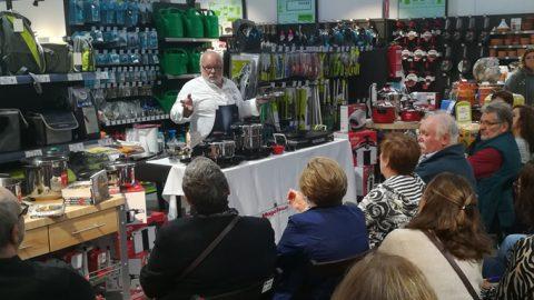 ferrOkey Móstoles (28 marzo): Pacho González de Miguel inauguró el primer Show cooking de Magefesa
