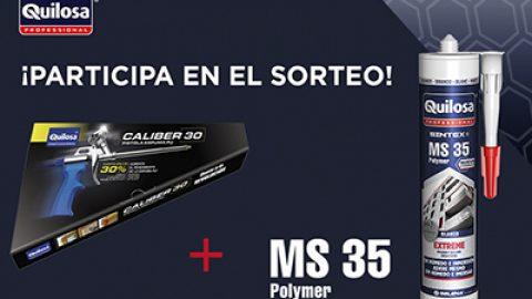 Gana una pistola de espuma Quilosa caliber 30 + sellador MS35 Polymer
