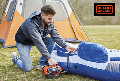Gana un inflador + batería + cargador con Black + Decker