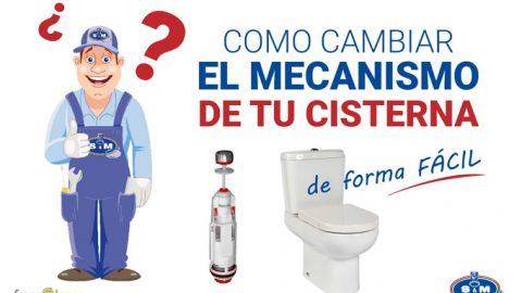Cómo cambiar el mecanismo de la cisterna del baño fácilmente